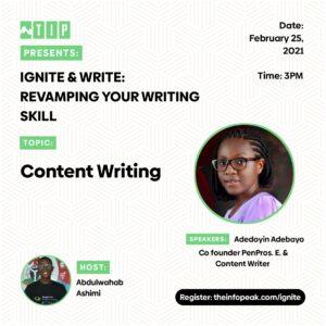 Ignite & Write: Revamping Your Writing Skills
